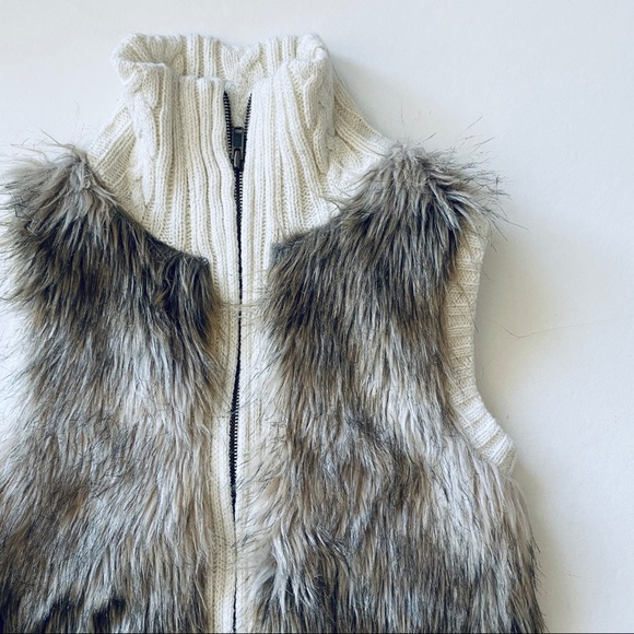 Other - Justice Girls Faux Fur Sweater Vest